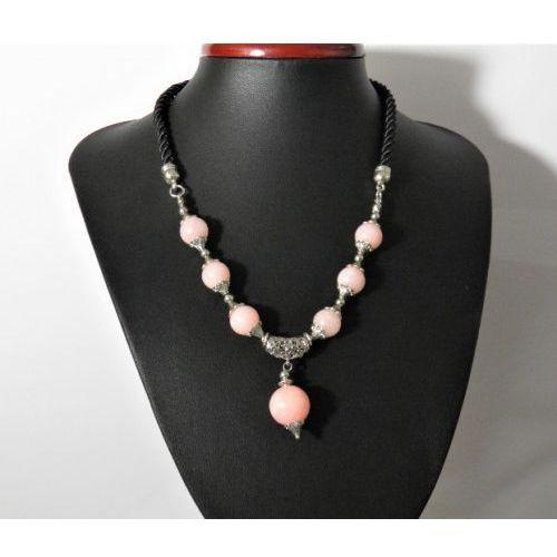 Naszyjnik z kamieni naturalnnych jadeit różowy marki She24