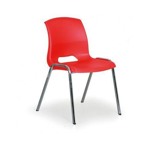Krzesła wieżowe Cleo, czerwony, kolor czerwony