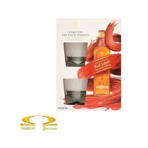 Whisky red label 0,7l + 2 szklanki edycja limitowana marki Johnnie walker