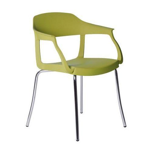 Krzesło Evo Strass P Green zielone, kolor zielony