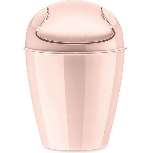 Kosz na śmieci Del XXS bladoróżowy, kolor różowy
