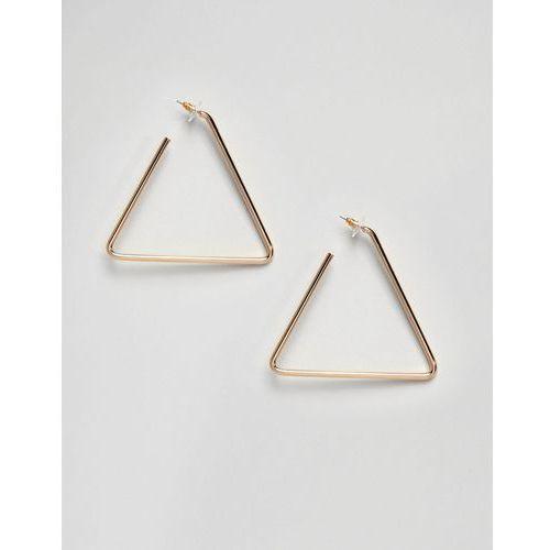 Aldo gold triangle hoop earrings - gold