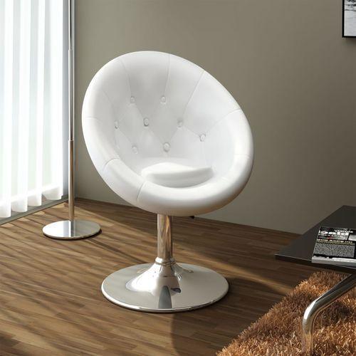 fotel klubowy biały chesterfield marki Vidaxl