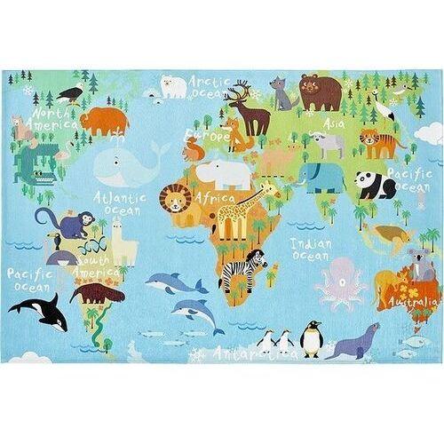 Dywan torino kids mapa świata 120 x 170 cm marki Obsession