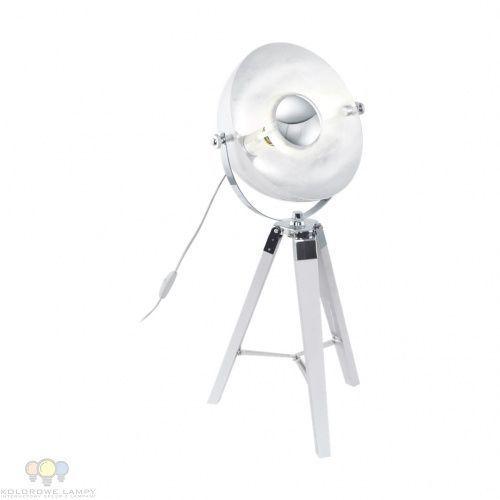 Lampa stołowa Eglo Covaleda 49876 oprawa 1x60W E27 biały/chrom/srebrny, 49876