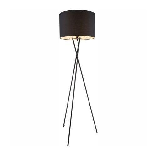 Lampa podłogowa Globo Gustav 1x60W E27 czarna 24686 (9007371325849)