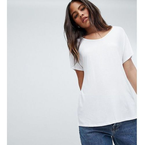 ASOS DESIGN Tall t-shirt with drapey batwing sleeve in white - White