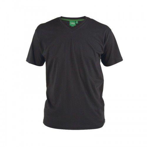 SIGNATURE-D555 T-shirt Męski Czarny Duże Rozmiary