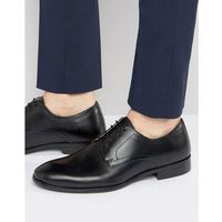 lace up smart shoes in black leather - black, Red tape