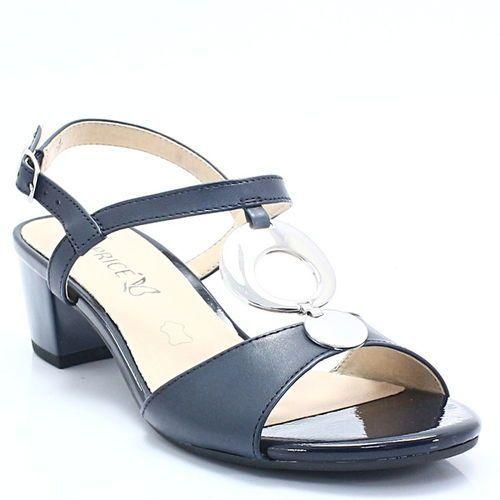 Caprice 9-28210-20 granatowe - niskie sandały