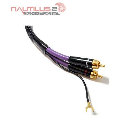Melodika  mdph30 kabel 2xrca phono do gramofonu z żyłą uziemiającą 3m - dostawa 0zł