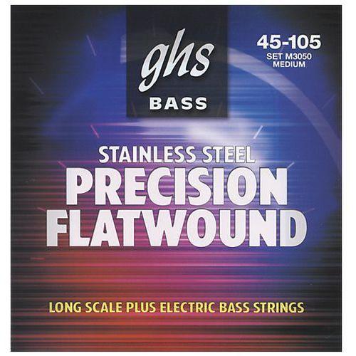 precision flatwound struny do gitary basowej, 4-str. medium,.045-.105 marki Ghs