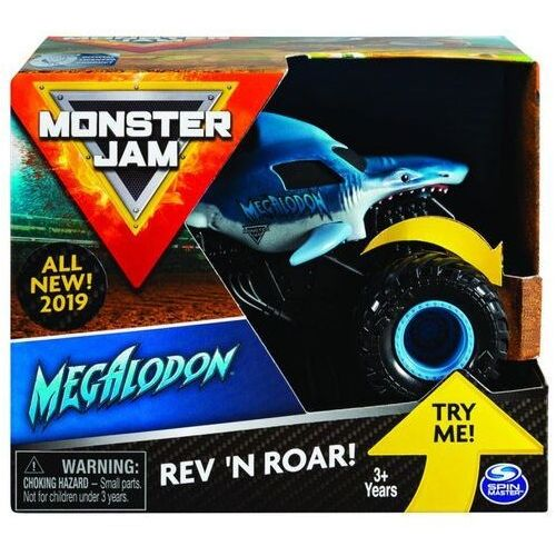 Spin master Pojazd monster jam auto warczące opony megladon