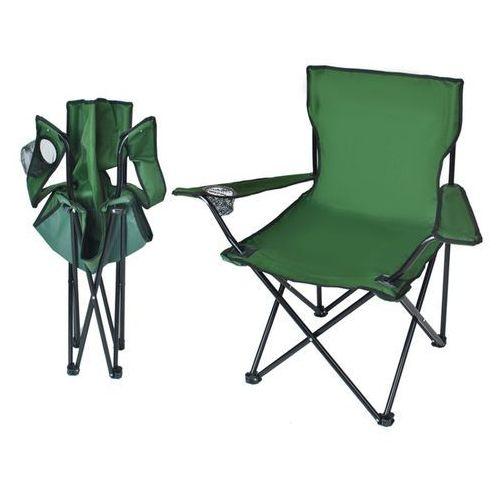 Krzesło wędkarskie turystyczne składane FOTEL zielony (5902802904676)