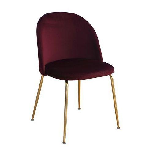 Krzesło FORLI burgundowy aksamit/ noga złota