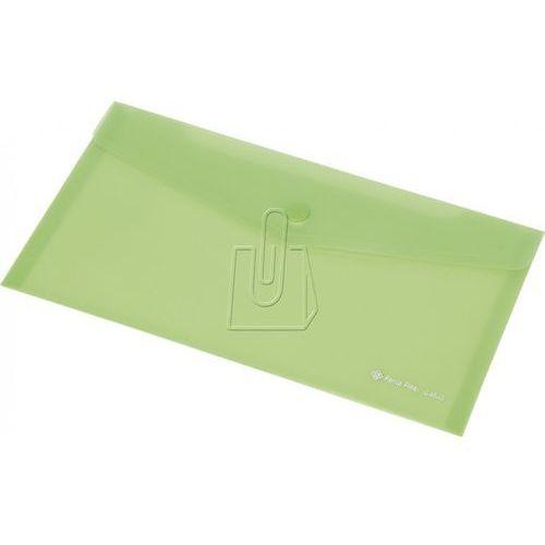 Teczka kopertowa DL Panta Plast C4533 na zatrzask zielona (5902156010085)