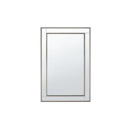 Beliani Lustro ścienne srebrne 61 x 91 cm fenioux (4251682215848)