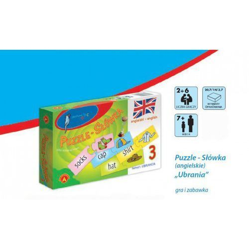 Alexander Gra edukacyjna puzzle- słówka (angielski)-zestaw ubrania (5906018004762)