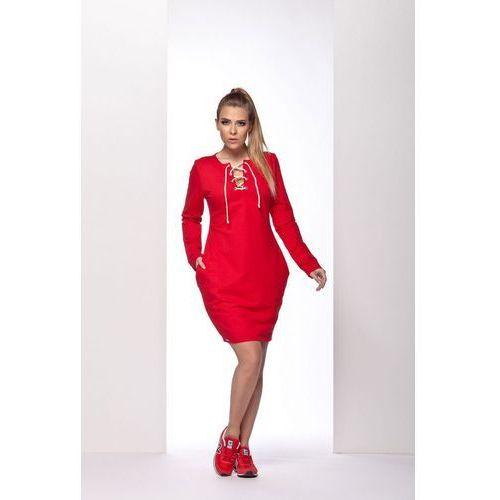 Lemoniade L116 czerwony sukienka