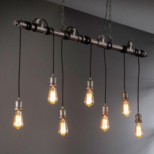 TERWIJDE Lampa Wisząca Srebrny, 7-punktowe - Vintage/Przemysłowy - Obszar wewnętrzny - TERWIJDE - Czas dostawy: od 3-6 dni roboczych
