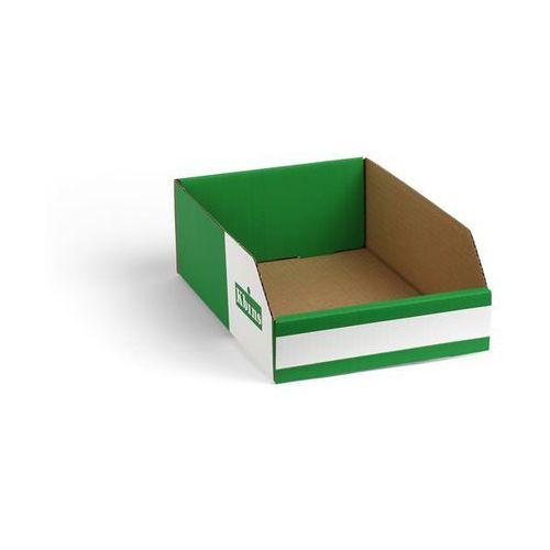 Skrzynki regałowe z kartonu, składane, opak. 150 szt., dł. x szer. x wys. 300x20
