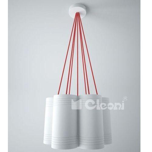 Lampa wisząca celia b7b z pomarańczowymi przewodami, 1271b7b+ marki Cleoni