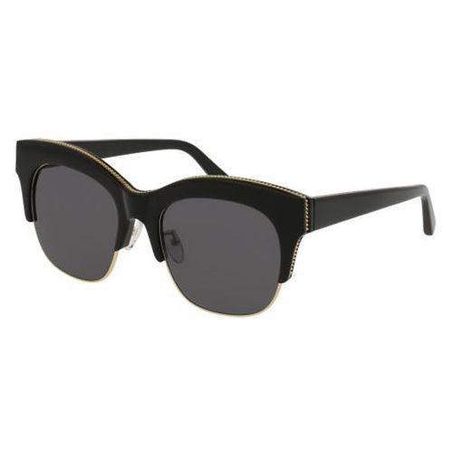 Okulary Słoneczne Stella McCartney SC0075SA Asian Fit 002, kolor żółty