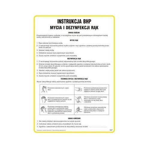 Znak Instrukcja BHP mycia i dezynfekcji rąk, IAT15 - OKAZJE