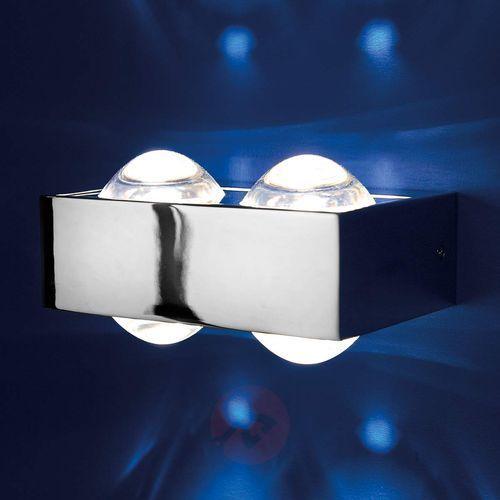 Top light 4 soczewki – lampa ścienna focus 150, chrom