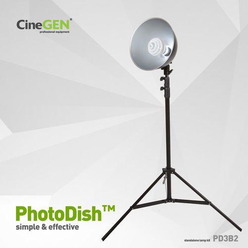 Cinegen Lampa 35w foto z reflektorem i statywem, photodish™ pd3b2
