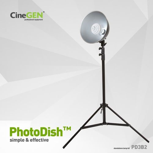 Lampa 35W foto z reflektorem i statywem, PhotoDish™ PD3B2