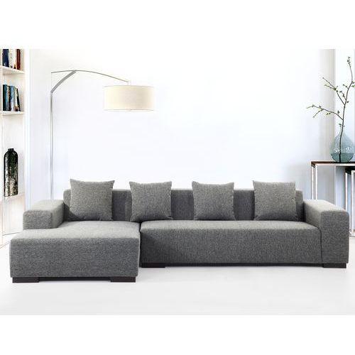 Sofa ciemnoszara - sofa narożna R - tapicerowana - LUNGO - sprawdź w wybranym sklepie