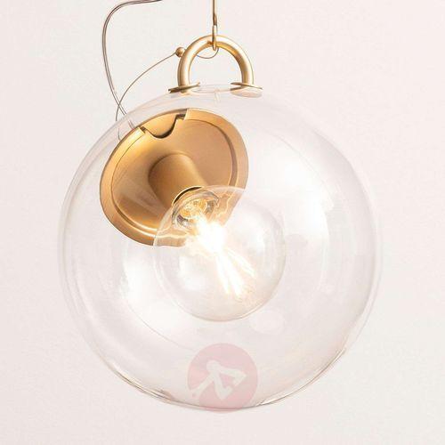 Artemide Miconos szklana lampa wisząca, mosiądz (8052993057921)