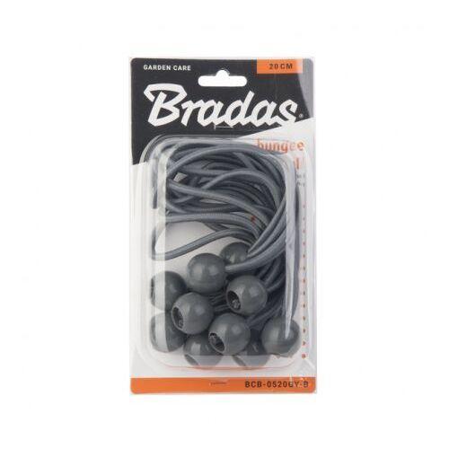 Bradas 10szt. zestaw gum z kulką 10x15cm szary 5365 (5907544435365)