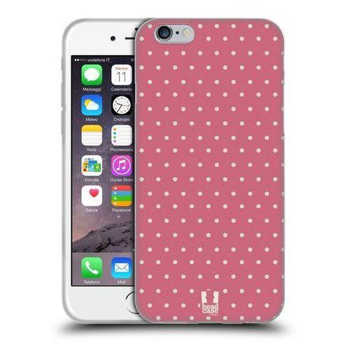 Head case Etui silikonowe na telefon - french country patterns pink dots