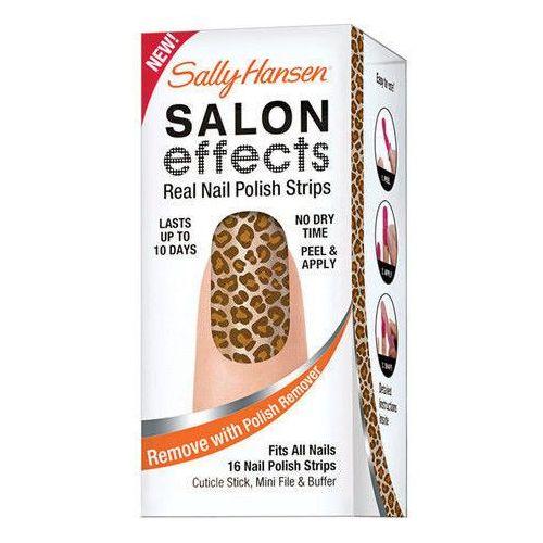 salon effects nail polish strips w kosmetyki zestaw kosmetyków 16x nail polish strips + cuticle stick + file 260 glitz blitz od producenta Sally hansen