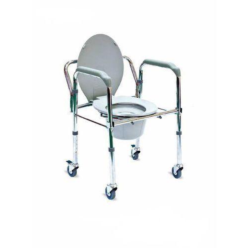 Timago Krzesło toaletowe, srebrno-szare