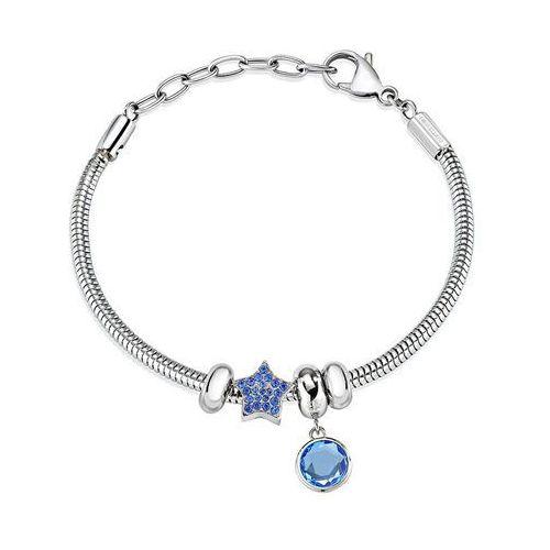 bransoletka z niebieskimi wisiorki drops scz935 marki Morellato
