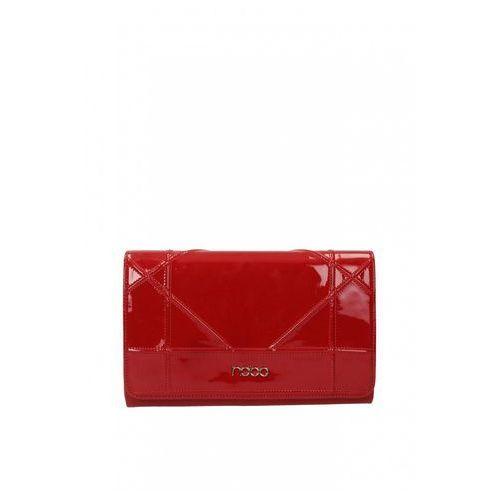 Czerwona, lakierowana kopertówka - marki Nobo