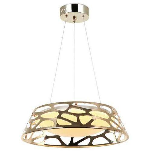 LAMPA wisząca FORINA GOLD S Orlicki Design okrągła OPRAWA zwis LED 24W z wycięciami złoty, FORINA GOLD S
