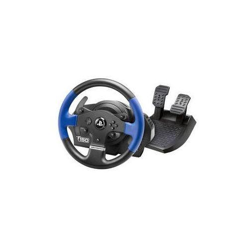 Kierownica t150 dla ps4, ps3 a pc + pedały (4160628) czarny marki Thrustmaster