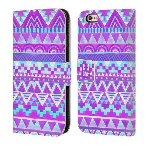 Head case Etui portfel na telefon - colour tribal purple sky blue