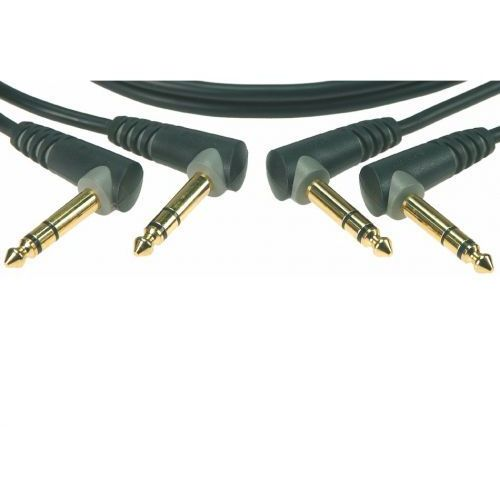 Klotz AB JJA0030 kabel patch 30cm, TRS kątowe (2 szt.)
