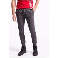 Spodnie dresowe męskie spmd258z - ciemny szary melanż marki 4f