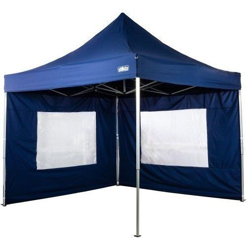 EKSPRESOWY PAWILON NAMIOT OGRODOWY 3x3m 2 SCIANKI - Niebieski (odcień granatowy) - produkt z kategorii- Pawilony i namioty ogrodowe