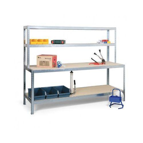 Stół do pakowania z półkami, długość 2500 mm marki Meta