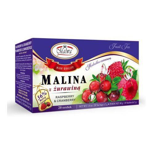Herbata Malina z żurawiną Malwa (20 sztuk), 5902781001083