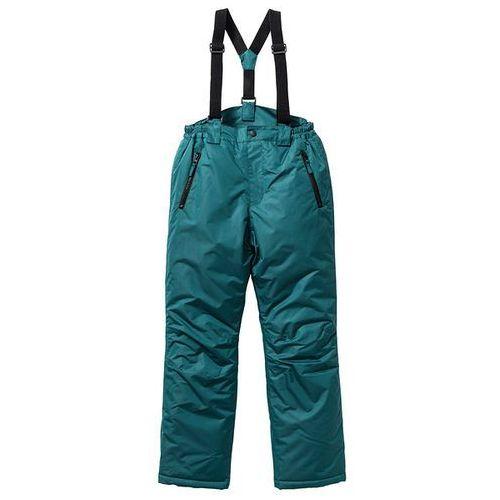 Spodnie narciarskie termoaktywne  niebieskozielony wyprodukowany przez Bonprix