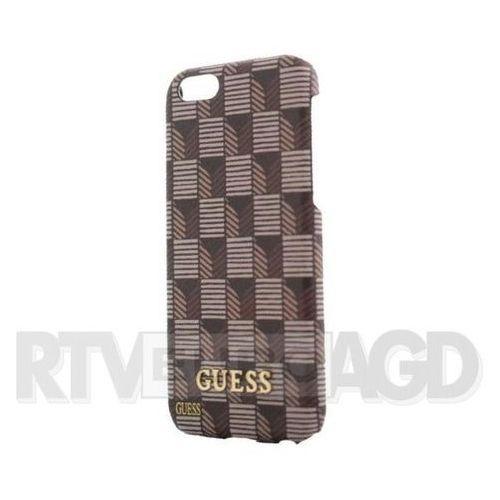 GUESS Hardcase GUHCP6JSBR iPhone 6/6S brązowy Jet Set DARMOWA DOSTAWA DO 400 SALONÓW !! (Futerał telefoniczny)