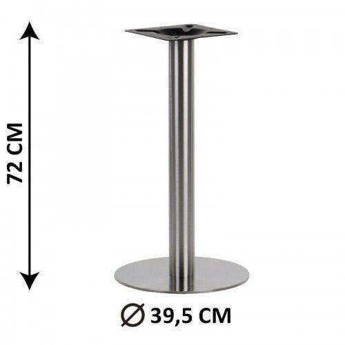 Podstawa stolika SH-3001-1/S, fi 39,5 cm, stal nierdzewna szczotkowana (stelaż stolika), SH-3001-1/S